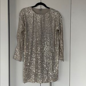 Champagne Sequin Mod Dress